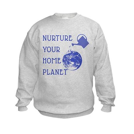 Nurture Your Planet Earth Day Kids Sweatshirt