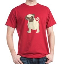 Hungry Pug Black T-Shirt