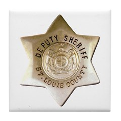 Saint Louis Sheriff Tile Coaster