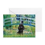 Bridge / Poodle (Black) Greeting Cards (Pk of 20)