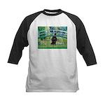 Bridge / Poodle (Black) Kids Baseball Jersey