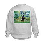 Bridge / Poodle (Black) Kids Sweatshirt