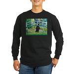 Bridge / Poodle (Black) Long Sleeve Dark T-Shirt