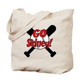 -Sidney Baseball Tote Bag