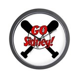 -Sidney Baseball Wall Clock