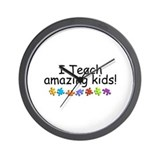 I Teach Amazing Kids Wall Clock