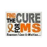 Find The Cure 1 MS Rectangle Magnet (10 pack)