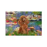 Lilies / Poodle (Apricot) Rectangle Magnet (10 pac