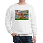 Lilies / Poodle (Apricot) Sweatshirt
