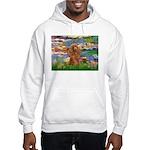 Lilies / Poodle (Apricot) Hooded Sweatshirt