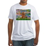 Lilies / Poodle (Apricot) Fitted T-Shirt
