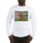 Lilies / Poodle (Apricot) Long Sleeve T-Shirt