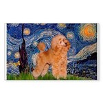 Starry / Poodle (Apricot) Sticker (Rectangle 50 pk