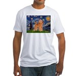 Starry / Poodle (Apricot) Fitted T-Shirt
