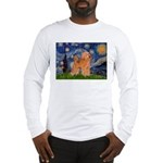 Starry / Poodle (Apricot) Long Sleeve T-Shirt