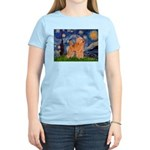 Starry / Poodle (Apricot) Women's Light T-Shirt