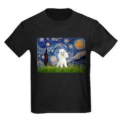 Starry / Poodle (White) Kids Dark T-Shirt