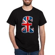Union Jack Pound Black T-Shirt