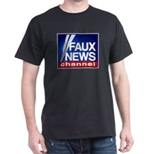 FAUX NEWS CHANNEL - Black T-Shirt
