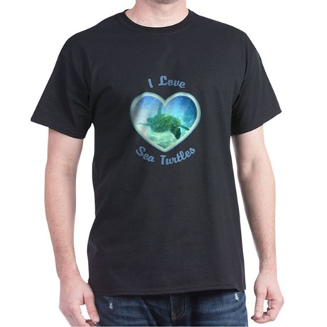 I Love Sea Turtles Dark T-Shirt