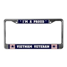 Proud Vietnam Veteran License Plate Frame