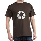 Recycle Logo on Green T-Shirt T-Shirt
