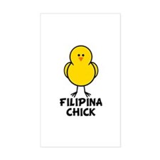 Filipina Chick Rectangle Decal