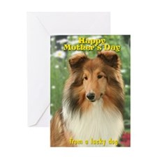Sheltie Mom's Day Card
