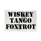 Wiskey Tango Foxtrot Rectangle Magnet