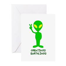 Greetings Earthlings Greeting Cards (Pk of 20)