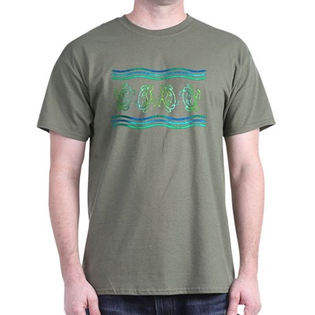 Turtles in Waves Dark T-Shirt