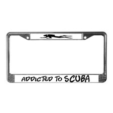 Addicted to Scuba License Plate Frame