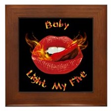 Hot Lips Framed Tile