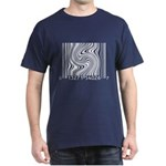 Ad-Free Twisted barcode Black T-Shirt