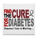 Find The Cure 1 DIABETES Tile Coaster