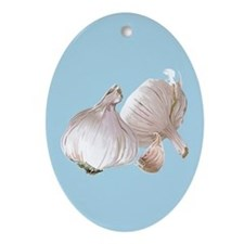 Just Garlic Oval Ornament
