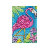 Pink Flamingo Refridgerator Magnet