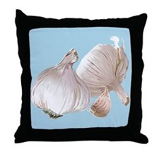 Just Garlic Throw Pillow