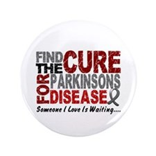 "Find The Cure 1 PARKINSONS 3.5"" Button (100 pack)"