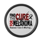 Find The Cure 1 MELANOMA Large Wall Clock