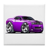 Challenger Purple Car Tile Coaster