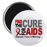 "Find The Cure 1 HIV AIDS 2.25"" Magnet (100 pack)"