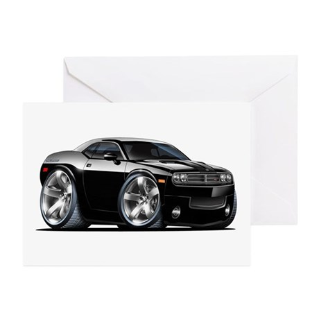 Challenger Black Car Greeting Cards (Pk of 10)