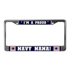Proud Navy Nana License Plate Frame