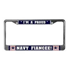 Proud Navy Fiancee License Plate Frame