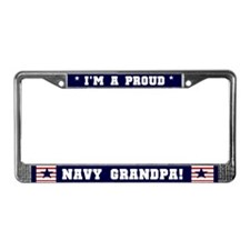 Proud Navy Grandpa License Plate Frame