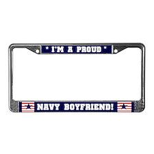 Proud Navy Boyfriend License Plate Frame