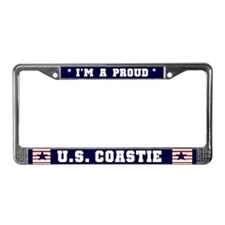 Proud U.S. Coastie License Plate Frame
