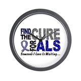 Find The Cure 1 ALS Wall Clock