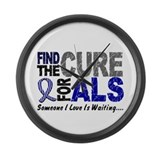 Find The Cure 1 ALS Large Wall Clock
